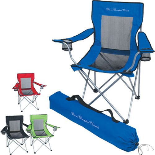 Mesh Folding Chair With Carrying Bag