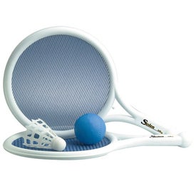 Mesh Paddle, Ball and Birdie Game