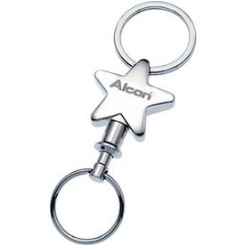 Metal Detachable Star Keyholder