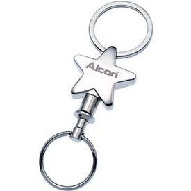 Metal Detachable Star Keyholder