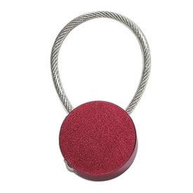 Monogrammed Metal Key Tag