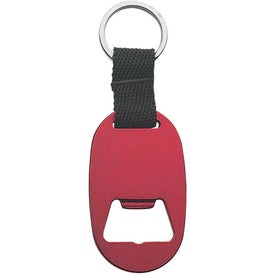 Metal Key Tag with Bottle Opener Branded with Your Logo
