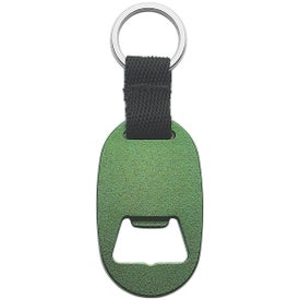 Monogrammed Metal Key Tag with Bottle Opener