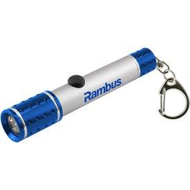 Monogrammed Metal Keychain Flashlight
