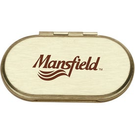 Branded Metal Oval Compact Mirror