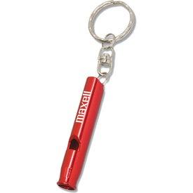 Imprinted Metal Whistle Key Ring