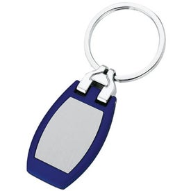 Polished Metal Key Tag Imprinted with Your Logo