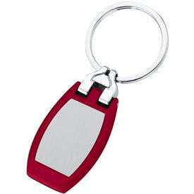 Branded Polished Metal Key Tag