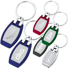 Company Polished Metal Key Tag