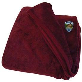 Monogrammed Micro Coral Fleece Blanket