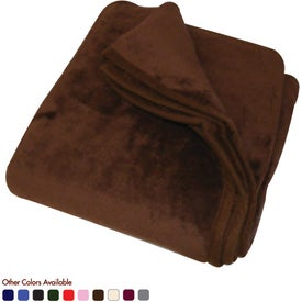 Micro Coral Fleece Blanket Printed with Your Logo