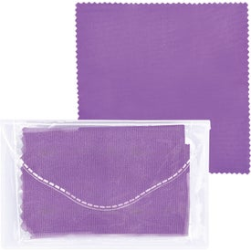 Company Microfiber Cleaner Cloth in Pouch