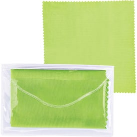 Microfiber Cleaner Cloth in Pouch Imprinted with Your Logo