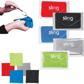 Microfiber Cleaner Cloth in Pouch for Your Organization
