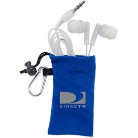 Personalized MicroFiber Ear Bud Pouch