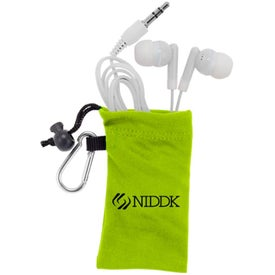 Imprinted MicroFiber Ear Bud Pouch