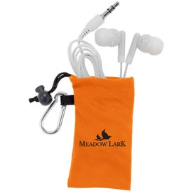 MicroFiber Ear Bud Pouch for your School
