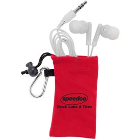 MicroFiber Ear Bud Pouch Imprinted with Your Logo