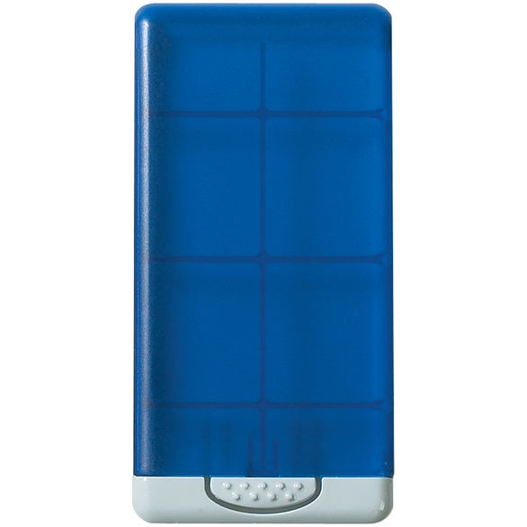 Translucent Blue Microfiber Screen Cleaner in Case