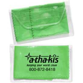 Branded Micropak Microfiber Cloth In Clear Pouch
