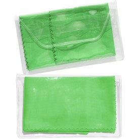 Micropak Microfiber Cloth In Clear Pouch for Customization