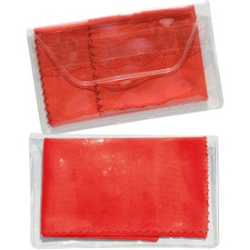 Micropak Microfiber Cloth In Clear Pouch Branded with Your Logo