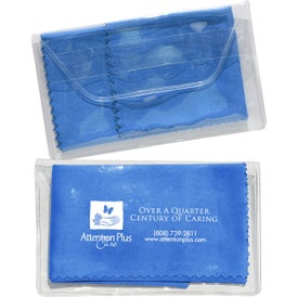 Printed Micropak Microfiber Cloth In Clear Pouch