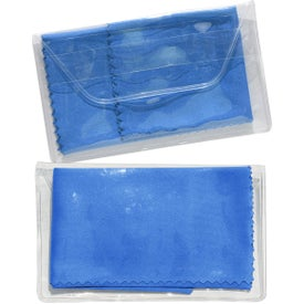 Imprinted Micropak Microfiber Cloth In Clear Pouch