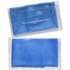 Imprinted Micropak Microfiber Cloth In Clear Pouch