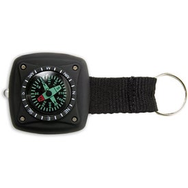 Military Compass Light/Flasher Keyring with Your Slogan