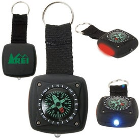 Military Compass Light/Flasher Keyring