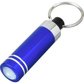 Mini Aluminum LED Light With Key Ring with Your Slogan