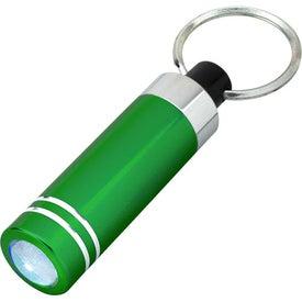 Branded Mini Aluminum LED Light With Key Ring