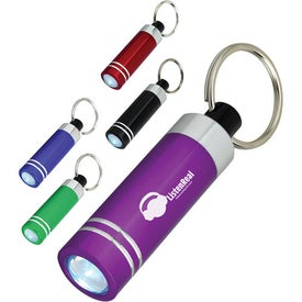 Mini Aluminum LED Light With Key Ring