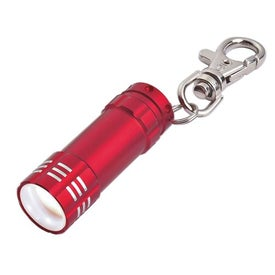 Advertising Mini Aluminum LED Light With Key Clip