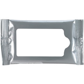 Mini Antibacterial Wet Wipe Packet Printed with Your Logo