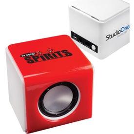Mini Bluetooth Sound Kube with Your Slogan