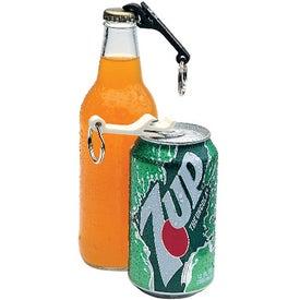 Logo Mini Bottle and Can Opener/Key Ring