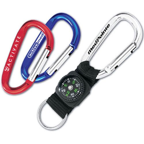 Promotional mini carabiner compasses with custom logo for for Designer carabiner