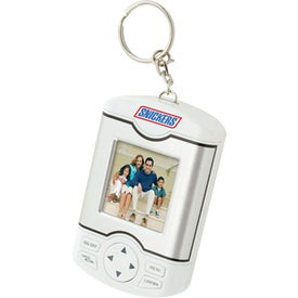 Imprinted Mini Digital Keychain Photo Frame