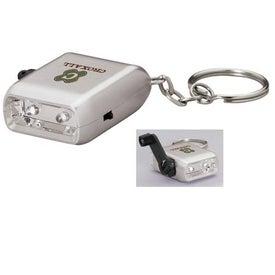 Mini Dynamo Flashlight Keychain