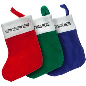 Mini Felt Christmas Stocking Imprinted with Your Logo