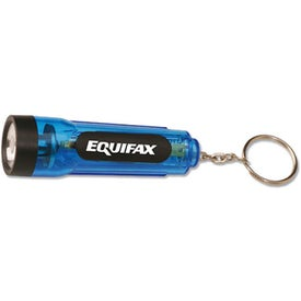 Mini Flashlight with Key Chain Imprinted with Your Logo