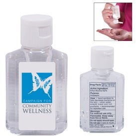 Mini Gel Hand Sanitizer in Square Bottle (2 Oz.)