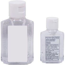 Custom Mini Gel Hand Sanitizer in Square Bottle