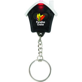 Custom Mini House Flashlight Keychain