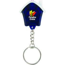 Mini House Flashlight Keychain for Promotion