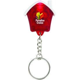 Mini House Flashlight Keychain for Customization