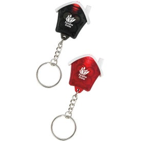 Mini House Flashlight Keychain