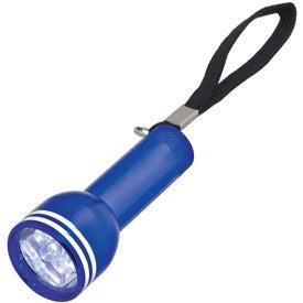 Mini Mega Aluminum LED Light with Strap Printed with Your Logo
